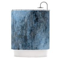 KESS InHouse CarolLynn Tice Familiar Dark Blue Shower Curtain (69x70)