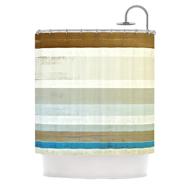 KESS InHouse CarolLynn Tice Invent Neutral Brown Shower Curtain (69x70)