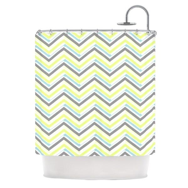 KESS InHouse CarolLynn Tice Ideal Gray Yellow Shower Curtain (69x70)