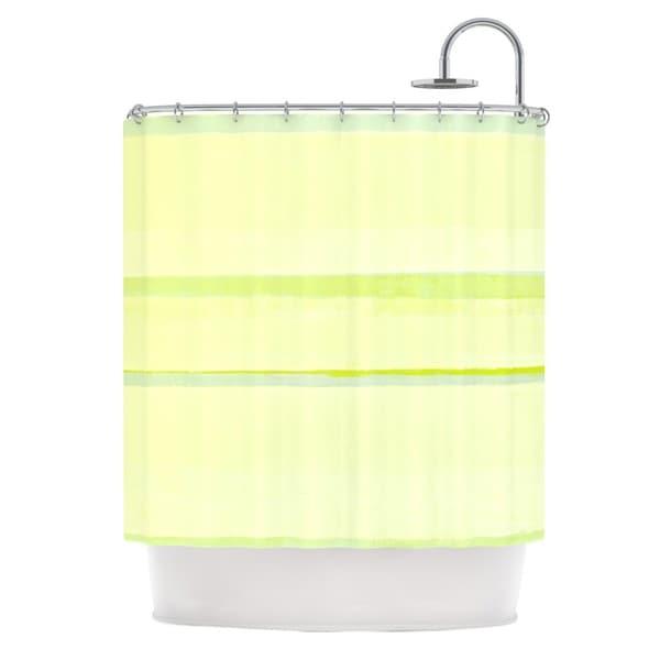 KESS InHouse CarolLynn Tice Lemons Lime Yellow Shower Curtain (69x70)