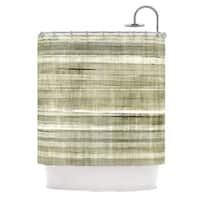 KESS InHouse CarolLynn Tice Simplicity Light Brown Shower Curtain (69x70)