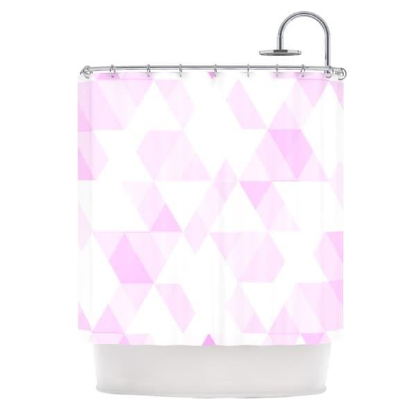 KESS InHouse CarolLynn Tice Aspire Geometric Pink Shower Curtain (69x70)