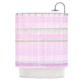 KESS InHouse CarolLynn Tice Yogurt Pink Gray Shower Curtain (69x70)