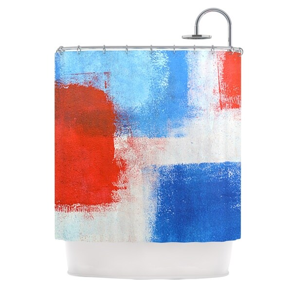 KESS InHouse CarolLynn Tice The Colors Red Blue Shower Curtain (69x70)