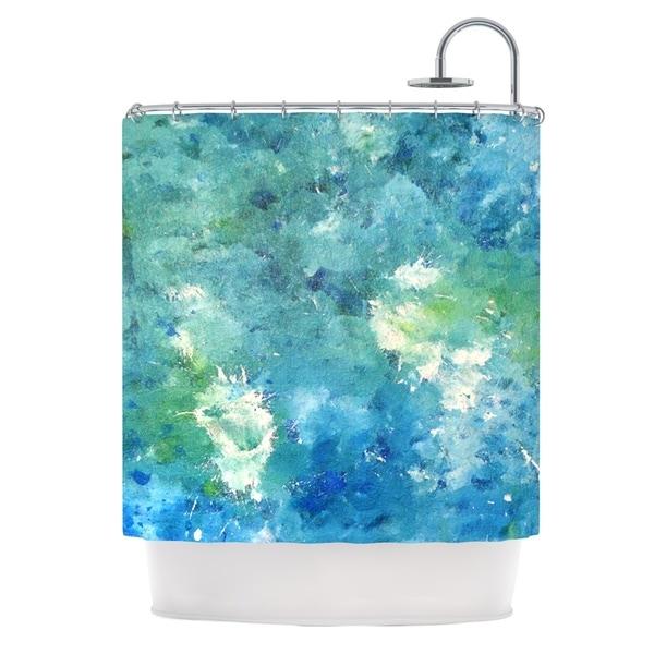 KESS InHouse CarolLynn Tice Sporatically Teal Green Shower Curtain (69x70)