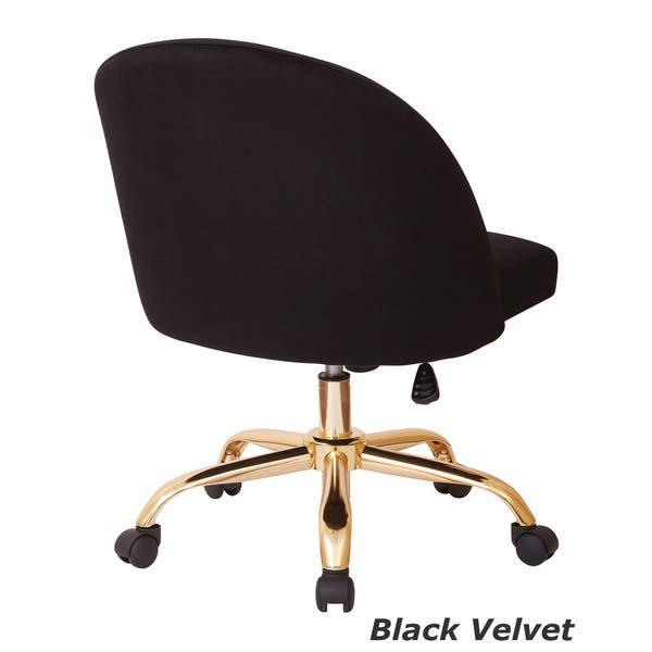 Enjoyable Shop Ave Six Layton Mid Back Office Chair With Gold Base Ibusinesslaw Wood Chair Design Ideas Ibusinesslaworg