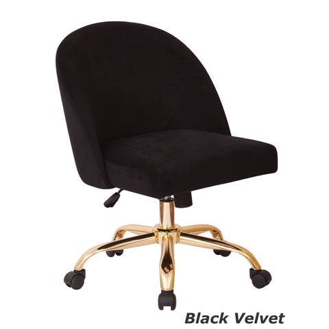 Ave Six Layton Mid Back Office Chair with Gold Base