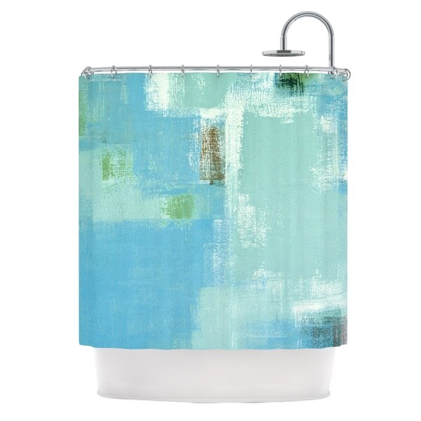 KESS InHouse CarolLynn Tice Announced Aqua Green Shower Curtain (69x70)