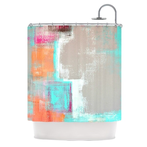 KESS InHouse CarolLynn Tice Gifted Gray Aqua Shower Curtain (69x70)