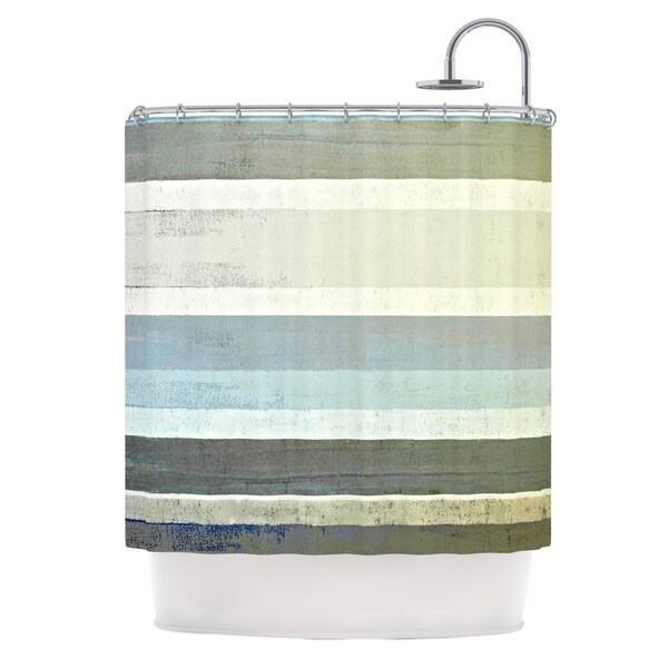 KESS InHouse CarolLynn Tice No Limits Teal Brown Shower Curtain (69x70)