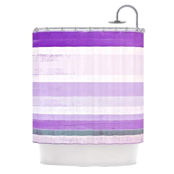 KESS InHouse CarolLynn Tice Grape Purple White Shower Curtain (69x70)