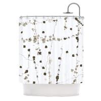KESS InHouse CarolLynn Tice Wonder Brown White Shower Curtain (69x70)