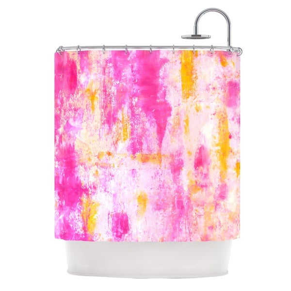 KESS InHouse CarolLynn Tice Fancy Pink Yellow Shower Curtain (69x70)