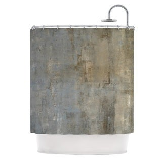 KESS InHouse CarolLynn Tice Overlooked Brown Gray Shower Curtain (69x70)