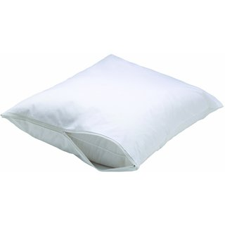 White Dust Mite and Allergy Control Pillow Encasement (Set of 2)