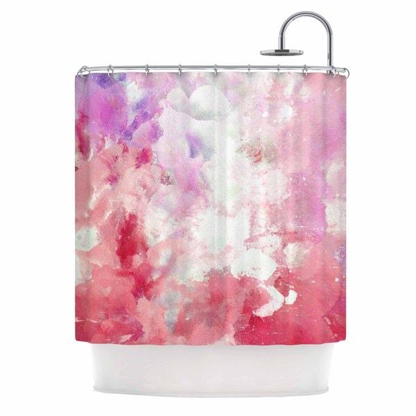KESS InHouse CarolLynn Tice Tannins Red Pink Shower Curtain (69x70)