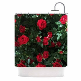 KESS InHouse Chelsea Victoria Juliets Garden Red Floral Shower Curtain (69x70)
