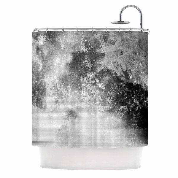 KESS InHouse Chelsea Victoria Black Ice Gray Black Shower Curtain (69x70)
