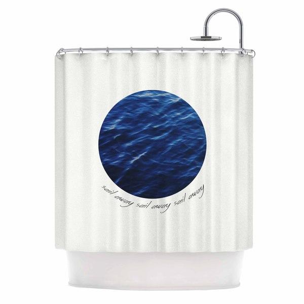 KESS InHouse Chelsea Victoria Sail Away Blue White Shower Curtain (69x70)
