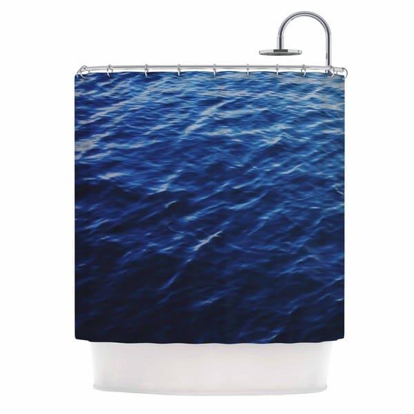 KESS InHouse Chelsea Victoria Sea Calm Blue Nature Shower Curtain (69x70)