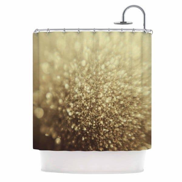 KESS InHouse Chelsea Victoria Glitterati Gold Photography Shower Curtain (69x70)