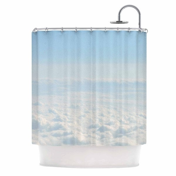KESS InHouse Chcelsea Victoria Softly Blue White Shower Curtain (69x70)