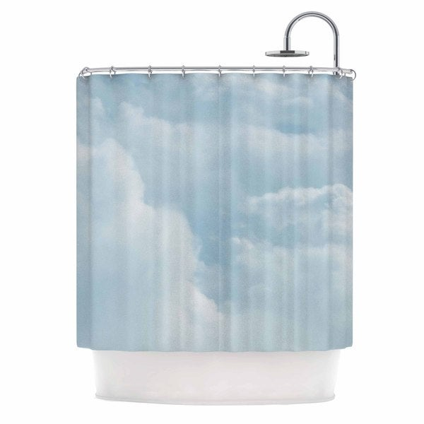 KESS InHouse Chelsea Victoria Blue Afternoon Blue Photography Shower Curtain (69x70)