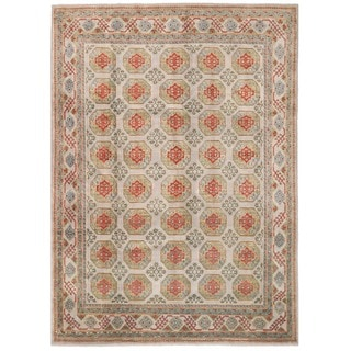 Herat Oriental Afghan Hand-knotted Transitional Turkoman Wool Rug (7'11 x 11'2)