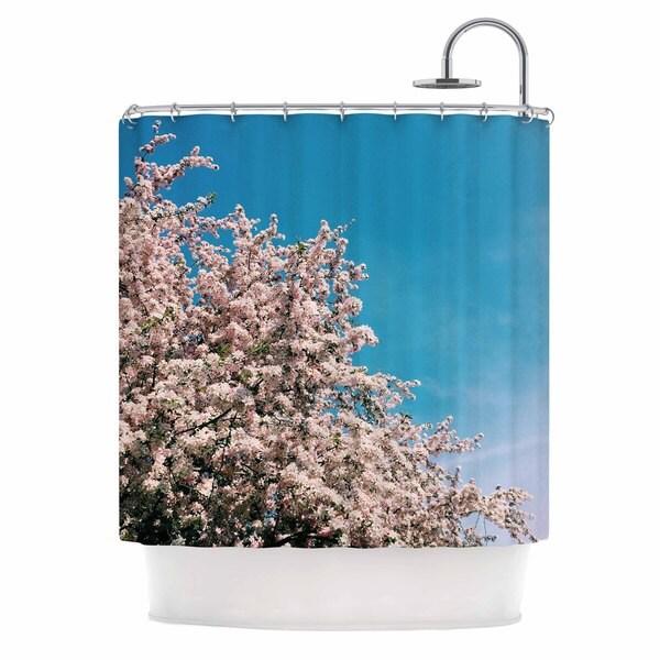 KESS InHouse Chelsea Victoria Blossom Tree Blue Pink Shower Curtain (69x70)