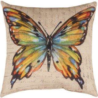 Manual Woodworkers BUTTERFLY WINGS MULTI CLR BFLY MULTI COLOR Throw Pillow