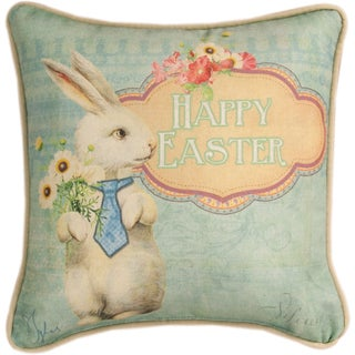 Manual Woodworkers HAPPY EASTER MULTI COLOR Throw Pillow