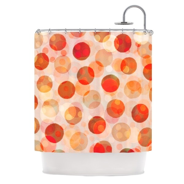 KESS InHouse Daisy Beatrice Shepard's Delight Orange Shower Curtain (69x70)