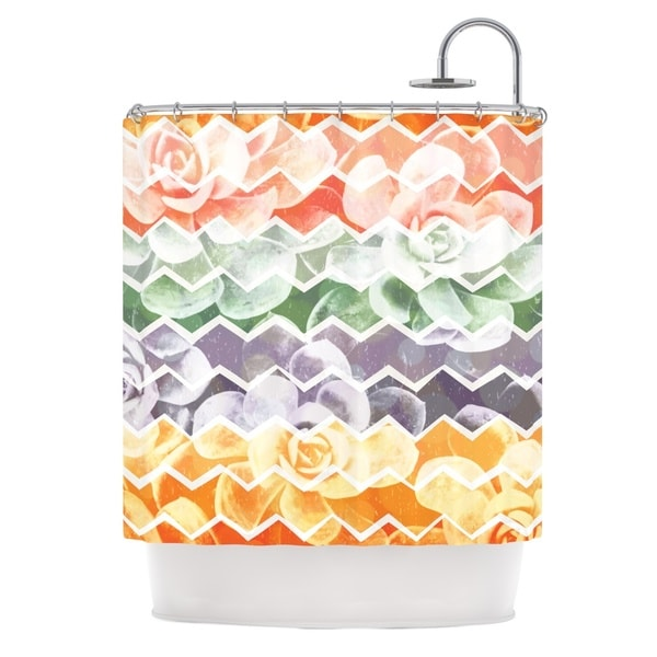 KESS InHouse Daisy Beatrice Desert Dreams Chevron Shower Curtain (69x70)