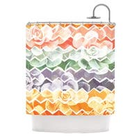 "KESS InHouse Daisy Beatrice ""Desert Dreams"" Chevron Shower Curtain (69x70) - 69 x 70"