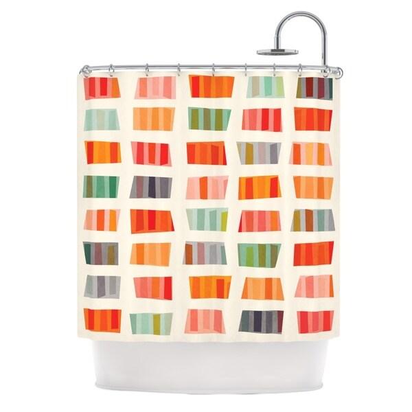 KESS InHouse Daisy Beatrice Beach Towels Multicolor Shower Curtain (69x70)