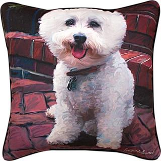 Manual GLAM DOG BICHON  MULTI COLOR Throw Pillow
