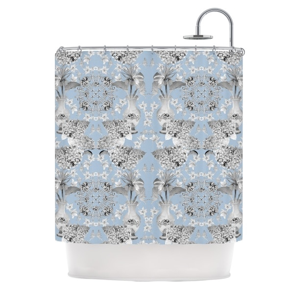 KESS InHouse DLKG Design Versailles Blue Shower Curtain (69x70)