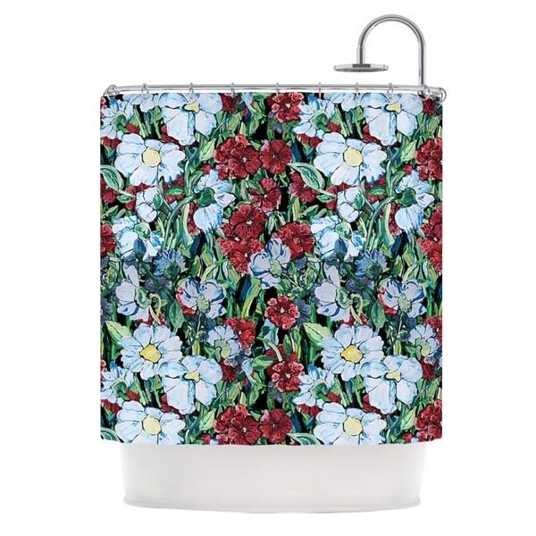 KESS InHouse DLKG Design Giardino Garden Flowers Shower Curtain (69x70)