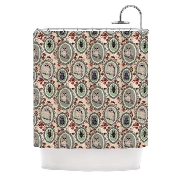 KESS InHouse DLKG Design Camafeu Gray Beetles Shower Curtain (69x70)