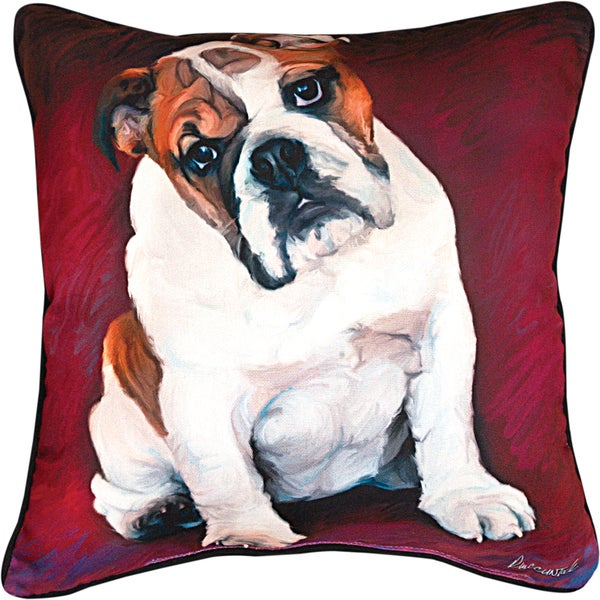Manual Woodworkers BULLDOG BABY MULTI COLOR Throw Pillow