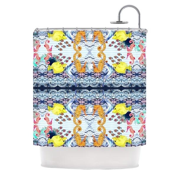 KESS InHouse DLKG Design Marine Life Blue Shower Curtain (69x70)