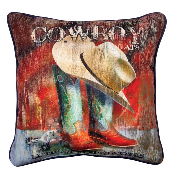Shop Manual Woodworkers BOOTS CHAPS MULTI COLOR Throw Pillow Fascinating Chaps Decorative Pillows