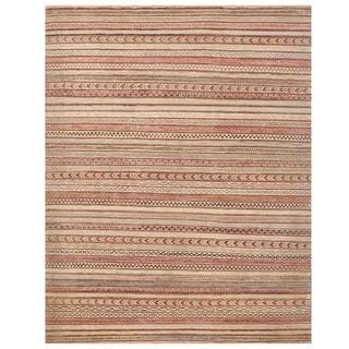 Herat Oriental Afghan Hand-knotted Vegetable Dye Gabbeh Wool Rug (6'4 x 7'10)