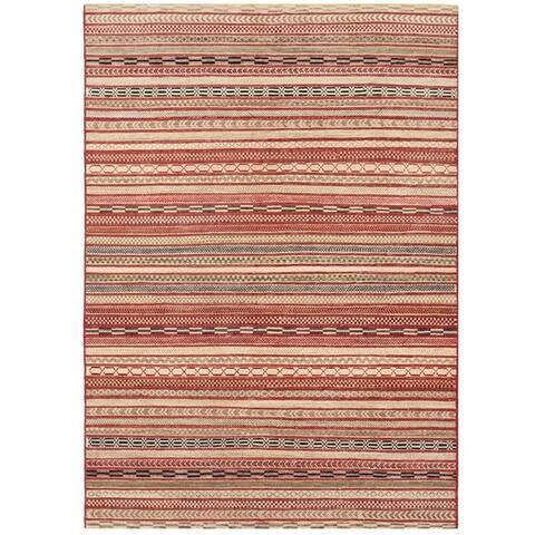 Handmade Vegetable Dye Gabbeh Wool Rug (Afghanistan) - 6'2 x 8'9