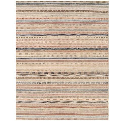 Handmade Vegetable Dye Gabbeh Wool Rug (Afghanistan) - 6'9 x 8'9
