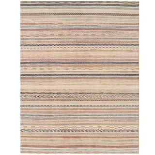 Herat Oriental Afghan Hand-knotted Vegetable Dye Gabbeh Wool Rug (6'9 x 8'9)