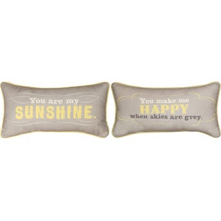 Manual Woodworkers YOU ARE MY SUNSHINE MULTI COLOR Throw Pillow