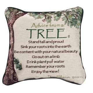 Manual Woodworkers ADVICE FROM A TREE MULTI COLOR Throw Pillow