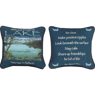 Manual ADVICE FROM THE LAKE  MULTI COLOR Throw Pillow