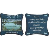 Manual Woodworkers ADVICE FROM THE LAKE MULTI COLOR Throw Pillow